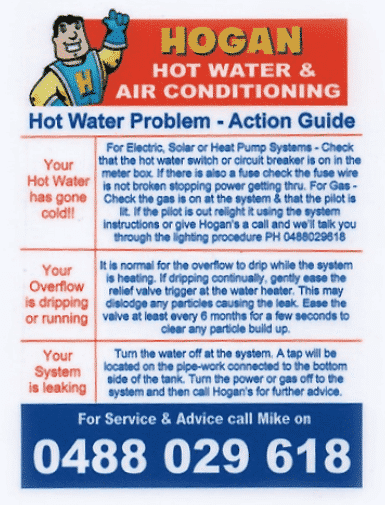 Hot water systems, Air conditioning, Refrigeration