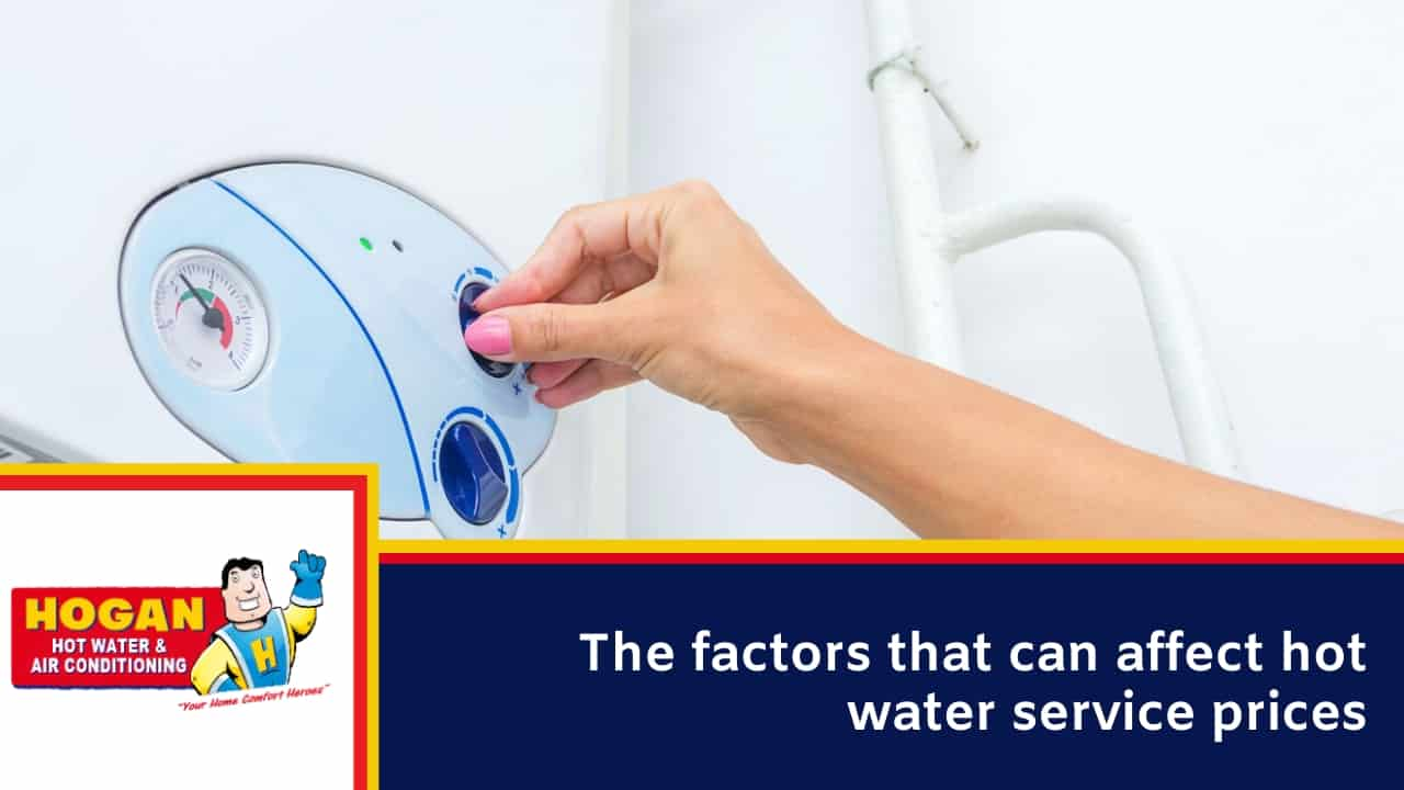 The factors that can affect hot water service prices