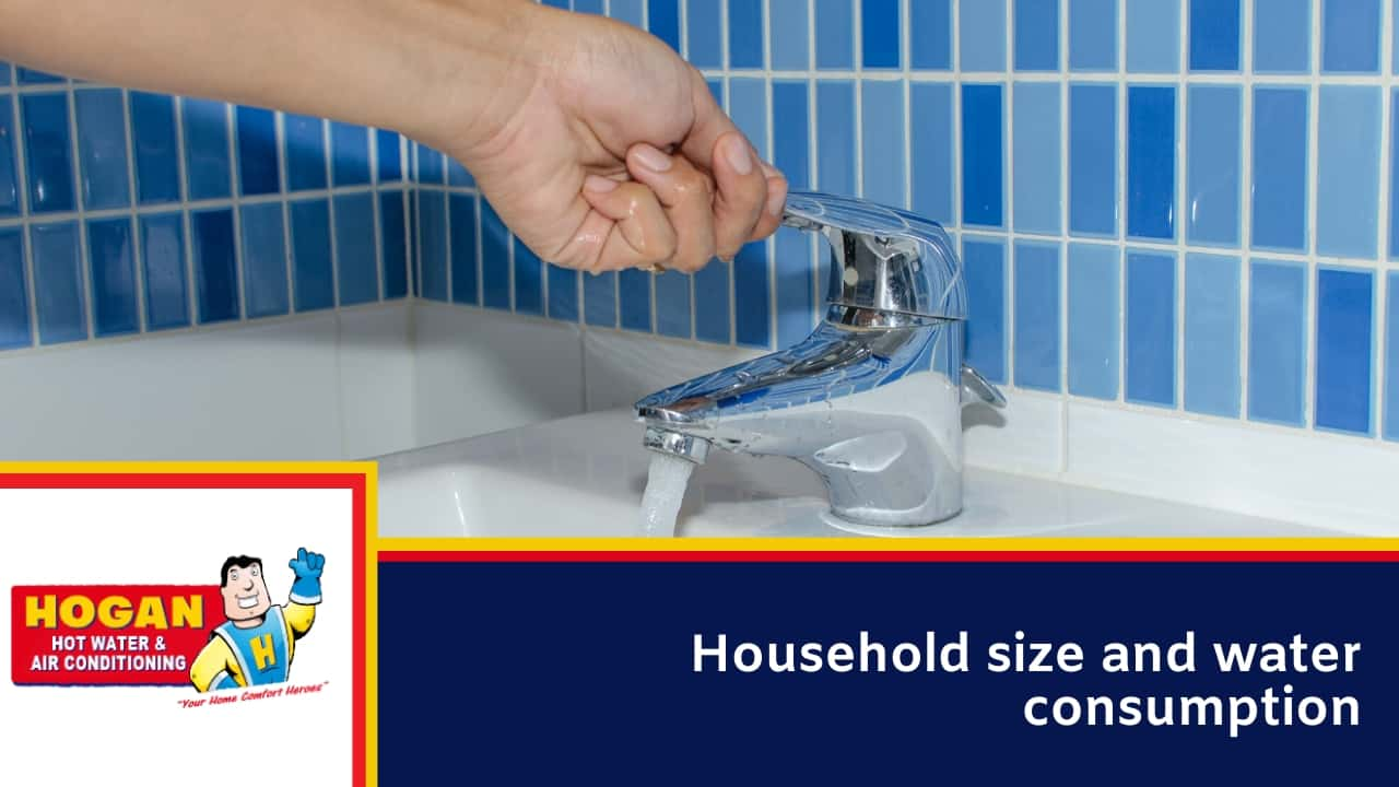 Household size and water consumption