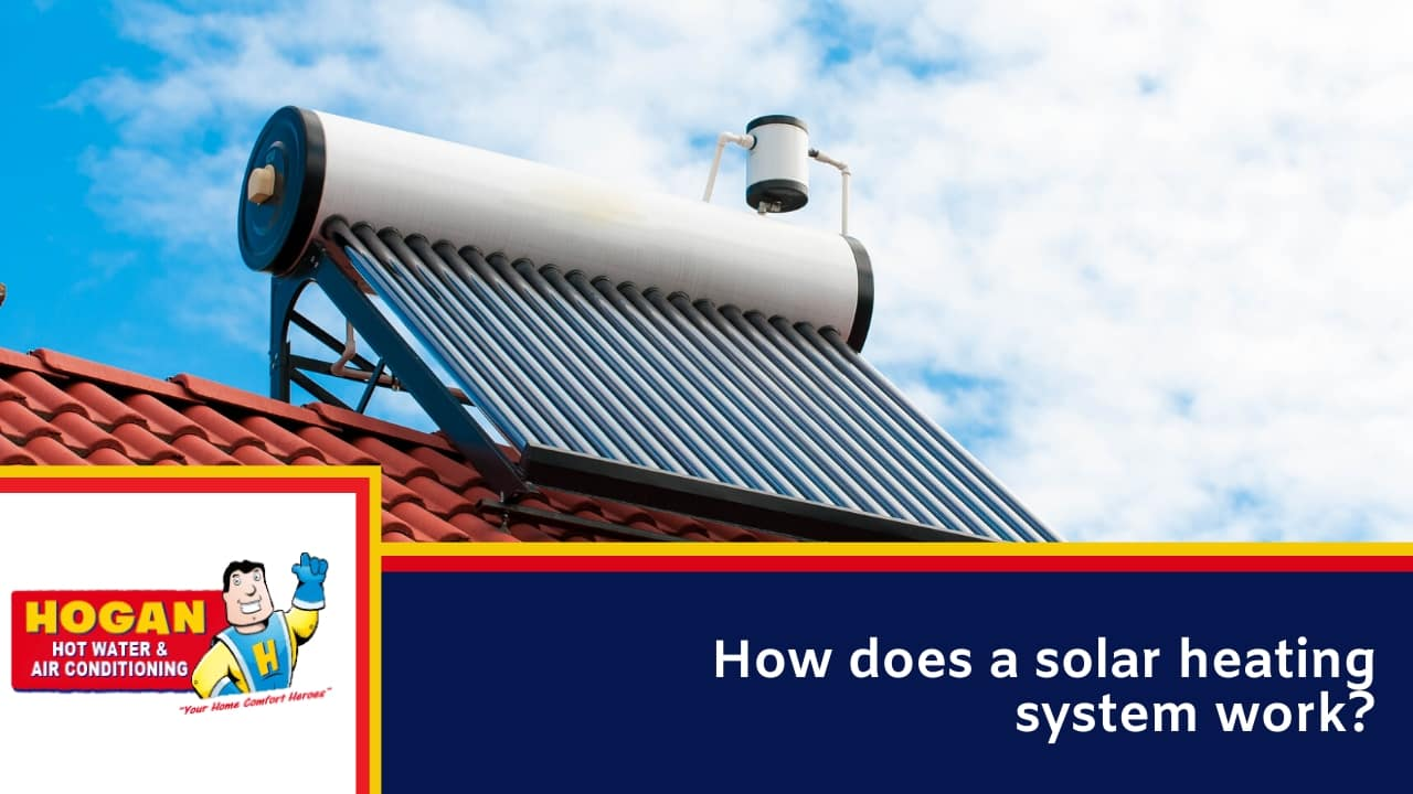 How does a solar heating system work