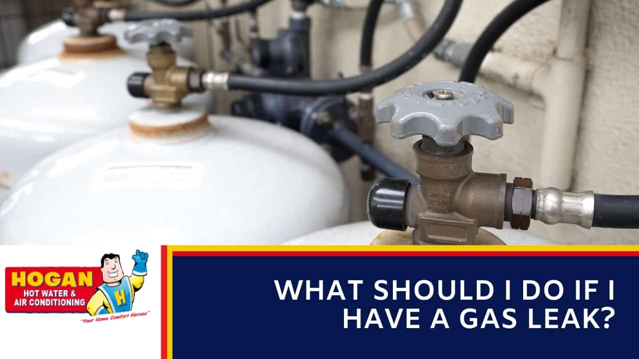 What should I do if I have a gas leak?