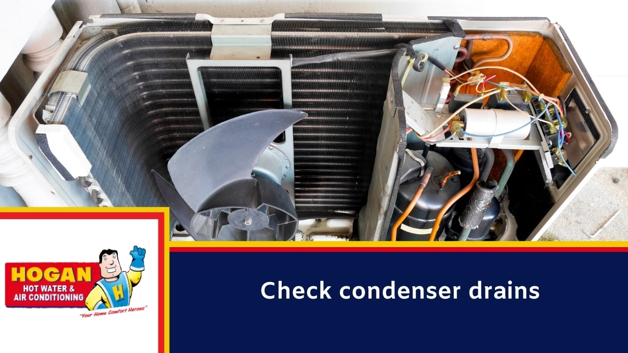 Check condenser drains