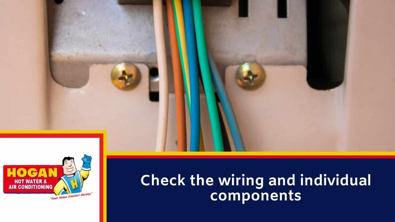 Check the wiring and individual components
