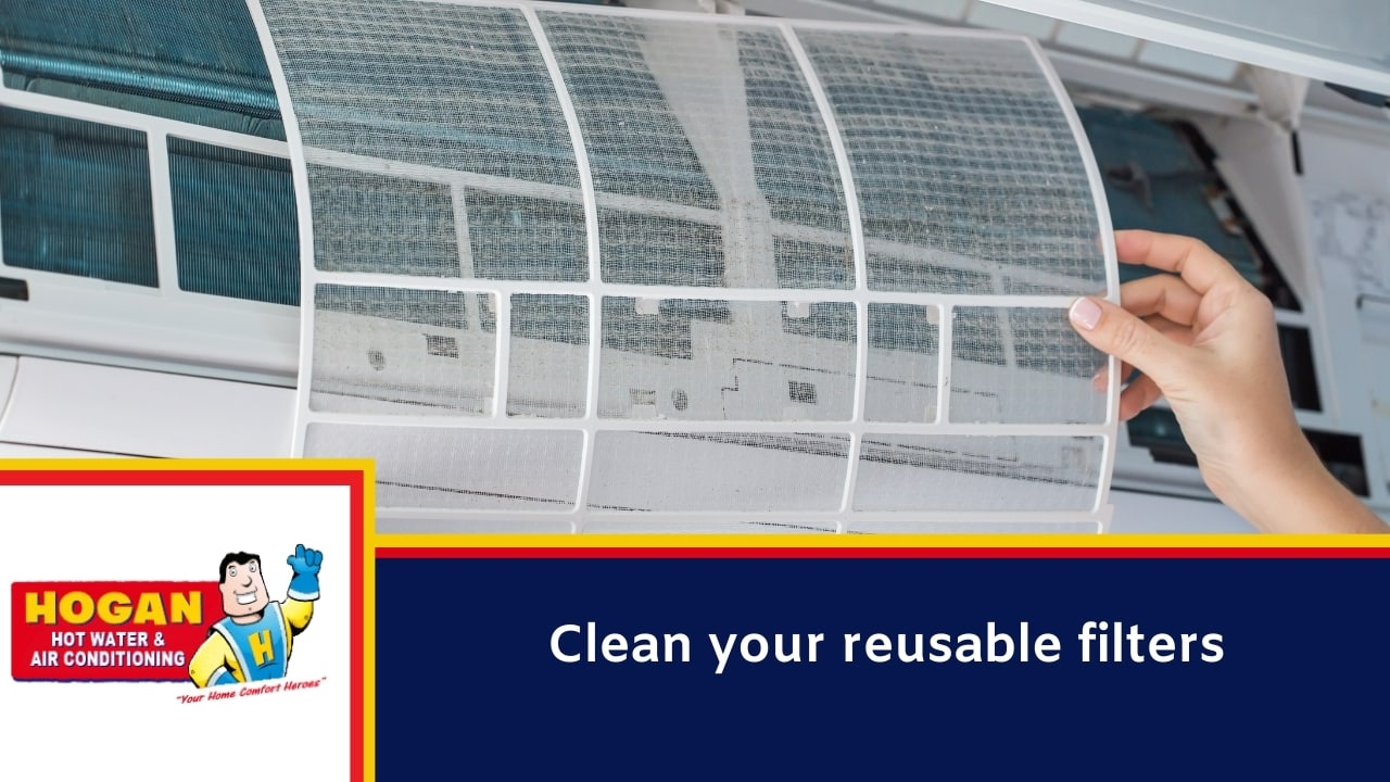 Clean your reusable filters